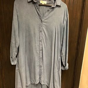 Anthropologie chambray dress. Size L.